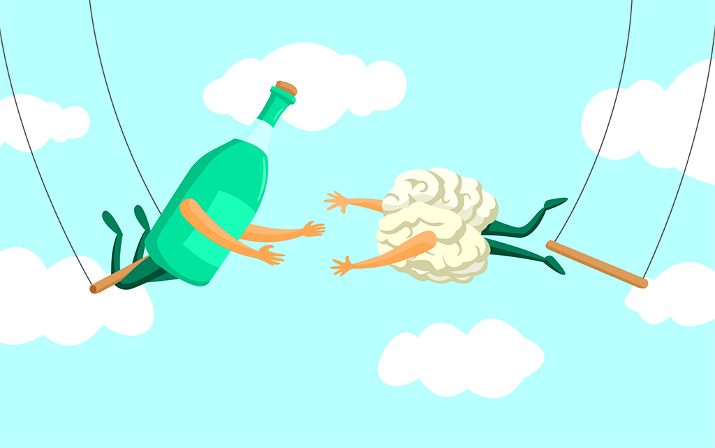 Alcohol Withdrawal Timeline - Brain and Wine Trapeze